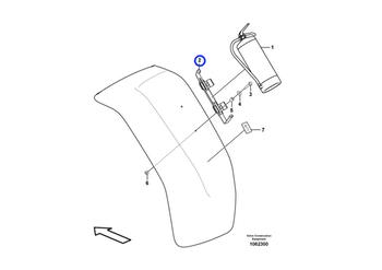 Suporte do Extintor de Incêndio - Volvo CE - 15195727 - Unitário