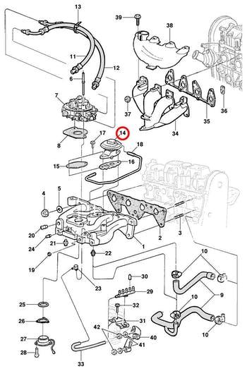 Válvula EGR - Original Chevrolet - 17087267 - Unitário