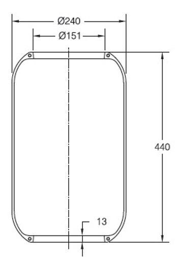 Fole Cilíndrico - Contitech - 77710 - Unitário