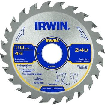 Lâmina Serra Circular 110x20mm com 12 Dentes IW14103 - Irwin - IW14103 - Unitário