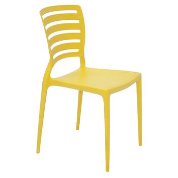 Cadeira Tramontina Sofia Amarela sem Braços Encosto Vazado Horizontal - Tramontina - 92237000 - Unitário