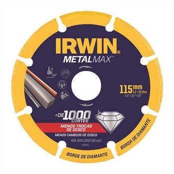 Disco de Corte Diamantado para Metais 115x1,3x22mm P/aço, Inox Metalmax - Irwin - 1998845 - Unitário