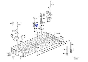 Mola da Válvula do Cabeçote - Volvo CE - 21591053 - Unitário