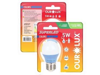 Lâmpada Bolinha Colors 3W Bivolt Amarelo - Ourolux - 05433 - Unitário