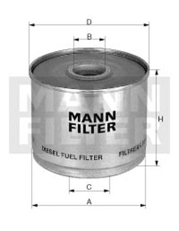 Elemento Filtrante do Combustível - Mann-Filter - P945/2 - Unitário