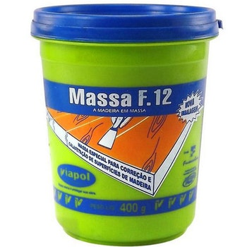 Massa para Madeira e Calafetagem F12 Castanho 400g - Viapol - V0210677 - Unitário