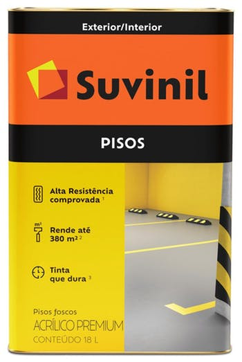 Tinta para Piso Fosco Preto 18L - Suvinil - 53418791 - Unitário