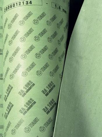 Papelão Hidráulico NA 1002 - Grafite Espessura 2,00mm Folha 1,5x1,6mm - Teadit - NA-1002-5/64 - Unitário