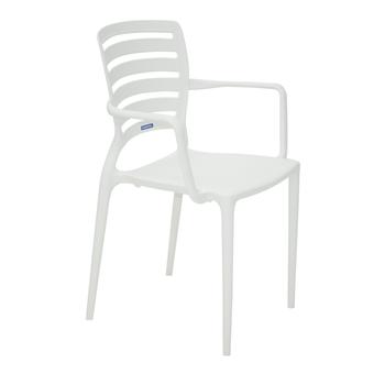 Cadeira Tramontina Sofia Branca com Braços Encosto Vazado Horizontal - Tramontina - 92036010 - Unitário