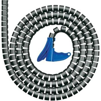 Spiral Helawrap 25mm Preto com 2 Metros 21-25mm - HellermannTyton - 1049822 - Unitário