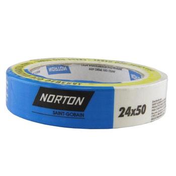 Fita crepe uso geral sleeve 24mmx50m - Norton - 66254482102 - Unitário