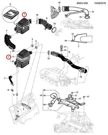 Caixa Do Filtro De Ar - Original Chevrolet - 93313695 - Unitário