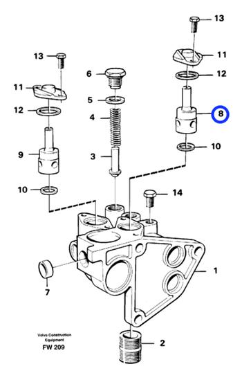 Válvula Redutora - Volvo CE - 471706 - Unitário