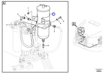 Filtro Separador de Água - Volvo CE - 877768 - Unitário