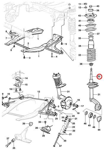 Amortecedor Dianteiro - Original Chevrolet - 93218913 - Unitário