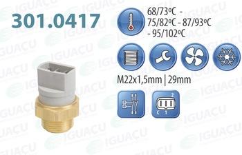 Interruptor Térmico do Radiador - Iguaçu - 301.0417-95/102 - Unitário