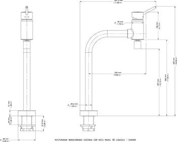 Misturador Monocomando para Cozinha de Mesa Lóggica ColdStart - Docol - 00578106 - Unitário