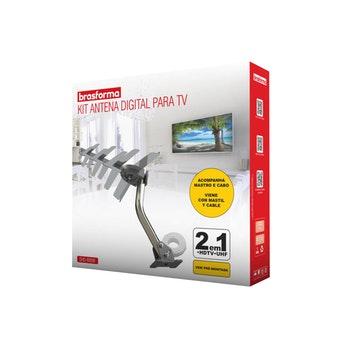 Kit Antena Digital Externa HDTV + Cabo Coaxial + Mastro de Fixação SHD-8000K - Brasforma - 1569996 - Unitário