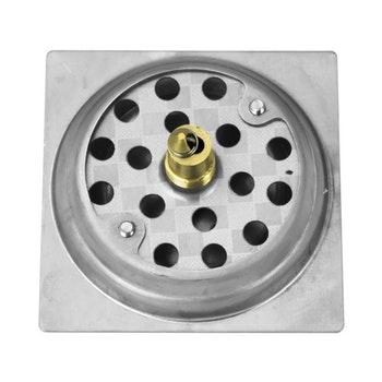 Ralo Click Up Inteligente de Inox para Banheiro (10 x 10 cm) - Sincenet - 40675 - Unitário