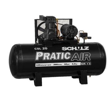 Compressor de Ar Estacionário Alternativo de Pistão CSL20/200L MT 2P 5CV 220/ 380V - Schulz - 921.3520-0 - Unitário