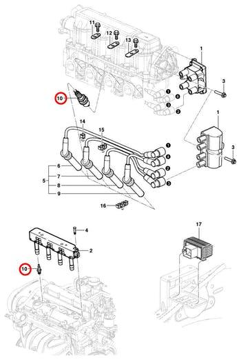 Vela de Ignição - Original Chevrolet - 93363296 - Jogo