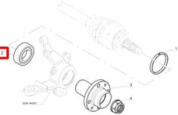 Rolamento de Roda - Original Fiat - 46532573 - Unitário