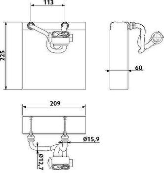 Evaporador - Valeo - 817733C - Unitário