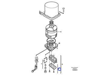 Silencioso do Filtro Secador - Volvo CE - 3094628 - Unitário