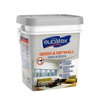 Tinta Acrílica para Gesso e Drywall Branca Lata 18L - Eucatex - 5400098.18 - Unitário