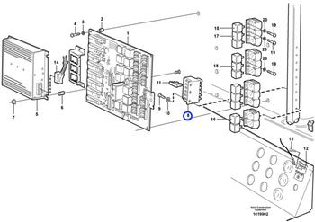 Porta Fusíveis - Volvo CE - 11039302 - Unitário