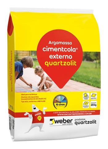 Argamassa Cimentcola Externo Cinza 20kg Tipo ACII Embalagem Plástica - Quartzolit - 0003.00001.0020PL - Unitário