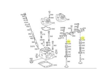 Chaveta de Válvula - Original Mercedes-Benz - A4750530026 - Unitário