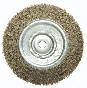 Escova Circular de Aço com Furo e Fio 0,20mm - Abrasfer - 7000-15 - Unitário