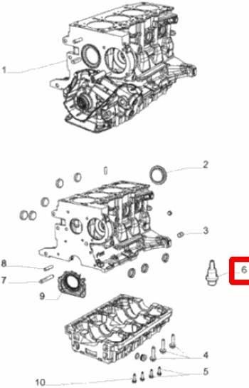 Pulverizador de Óleo - Original Fiat - 7589255 - Unitário