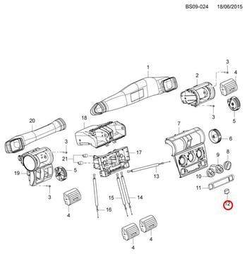 Botão do Recirculador de Ar - Original Chevrolet - 93359104 - Unitário