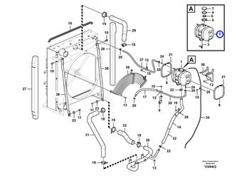 Tanque de Expansão - Volvo CE - 17214674 - Unitário