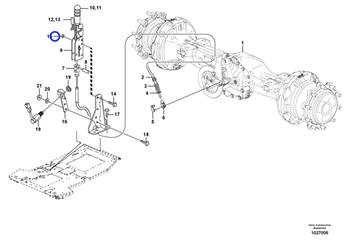 Contra Porca Flange - Volvo CE - 13971098 - Unitário