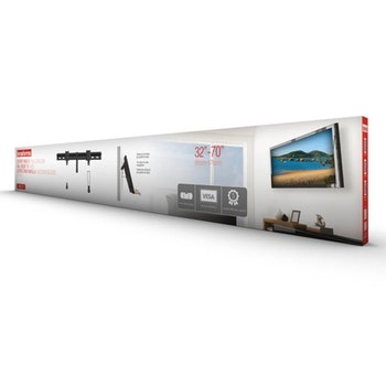 """Suporte Fixo Ultra Slim para TV LED, LCD, 3D e Smart TV de 32"""" a 70"""" - SBRL 501 - Brasforma - 1339494 - Unitário"""