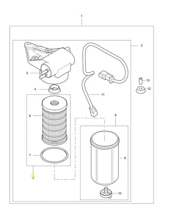 Elemento do Filtro de Combustível - PERKINS - 4816635 - Unitário