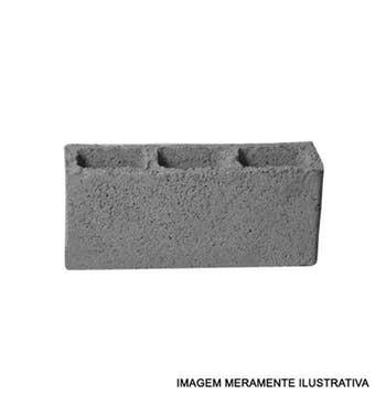 Bloco de Concreto Aparente 11,5 x 19 x 39cm - Distribuidor Regional - BLA111939 - Unitário