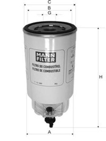 Filtro Blindado do Combustível Separador D'água - Mann-Filter - WK1050/2 - Unitário