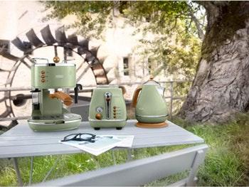 Torradeira Icona Vintage Green - 1000 W - De'Longhi - CTOV2103.GR - Unitário