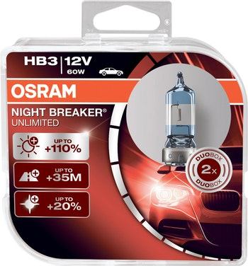 Lâmpada Night Breaker Unlimited HB3 - Osram - 9005NBU - Par