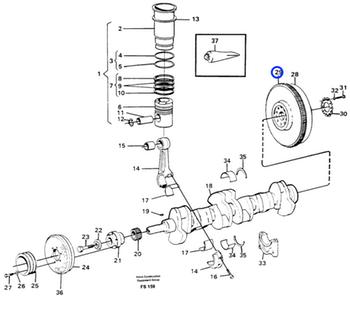 Coroa Dentada do Volante do Motor - Volvo CE - 420794 - Unitário
