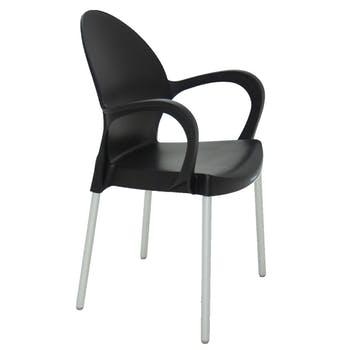 Cadeira Grace Preta em Polipropileno com Braços - Tramontina - 92068009 - Unitário