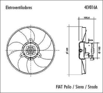 Eletroventilador - Valeo - 4EV016A - Unitário