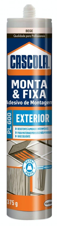 Adesivo Bege Monta e Fixa PL600 Externo 375g Henkel