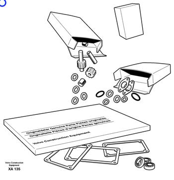 Anel de Vedação - Volvo CE - 1675066 - Unitário