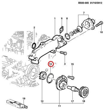 Anel de Vedação da Bomba D'água - Original Chevrolet - 90322506 - Unitário