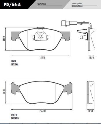 Pastilha de freio - Fras-le - PD/66-A - Jogo